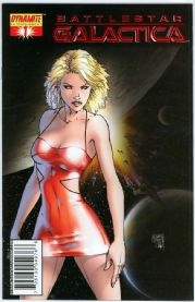 Battlestar Galactica #1 Michael Turner Red Foil Retail Variant Dynamite comic book